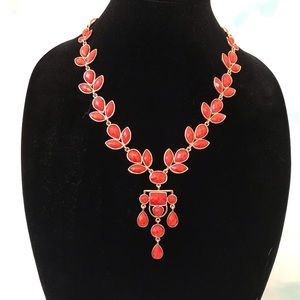 Amrita Singh Orange Stone Statement Necklace